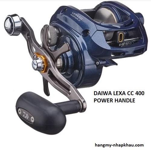 Máy câu cá Daiwa Lexa CC400 power handle 1 RH