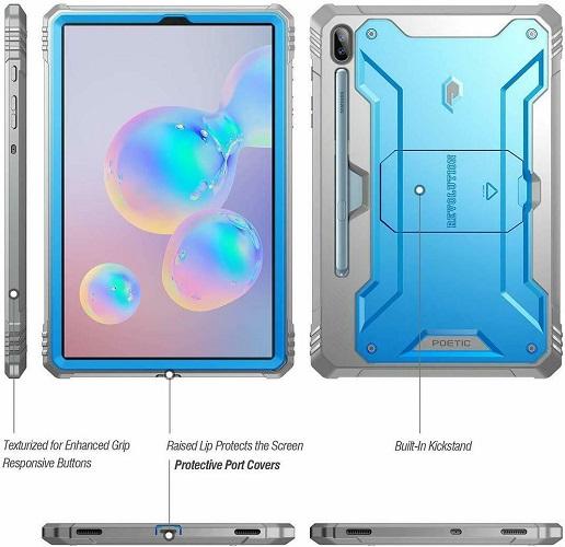 Ốp lưng Galaxy Tab S6 Tablet Case Poetic Xanh 2