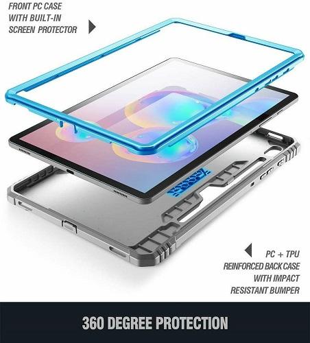 Ốp lưng Galaxy Tab S6 Tablet Case Poetic Xanh 3