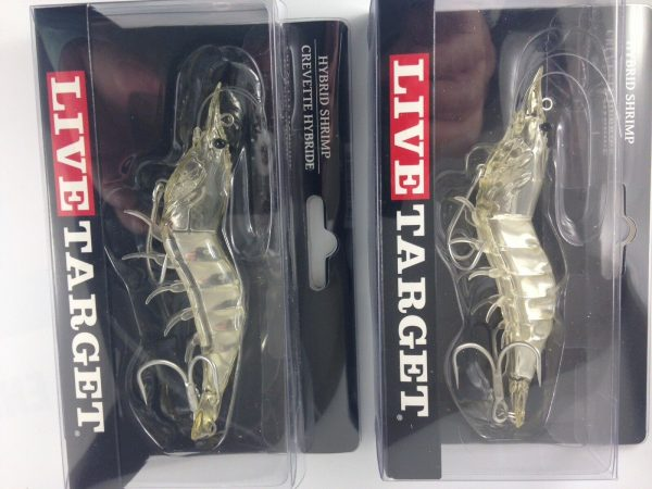 Mồi câu cá tôm Giả Live Target Hybrid Shrimp
