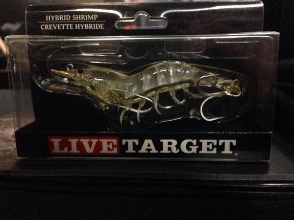 Mồi câu giả Livetarget Hybrid Shrimp hình con tôm 4