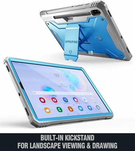 Ốp lưng Galaxy Tab S6 Tablet Case Poetic Xanh 5