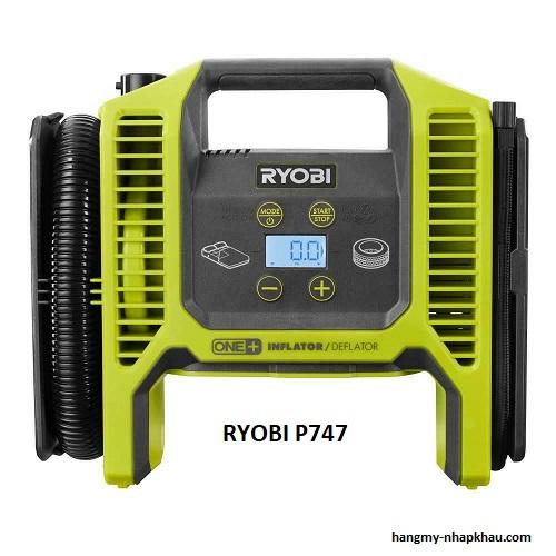 Máy bơm xe ô tô, xe máy Ryobi P747